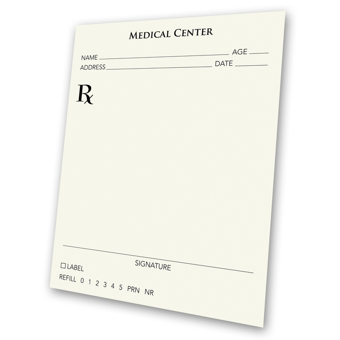 how to blank prescription pad